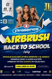 Primeros Airbrush Back To School Night - El Mágico Praha